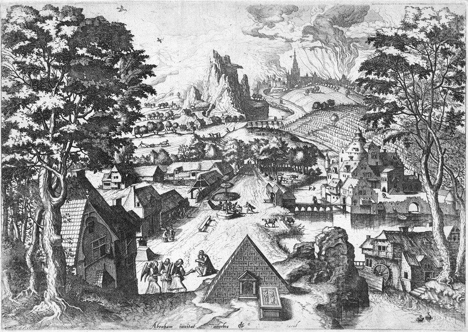 5096: Gassel, Lucas: Weite Landschaft mit Abraham und d