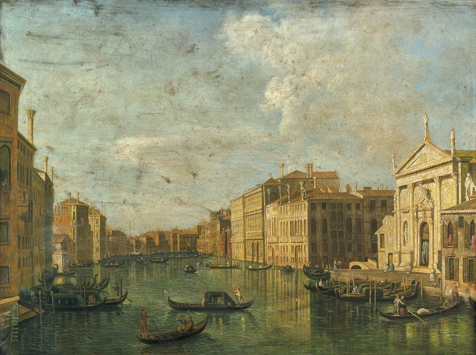 6058: Canaletto - Nachfolge: Blick in den Canale Grande