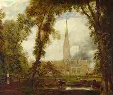 6116: Englisch, 19. Jh.: Die Kathedrale von Salisbury