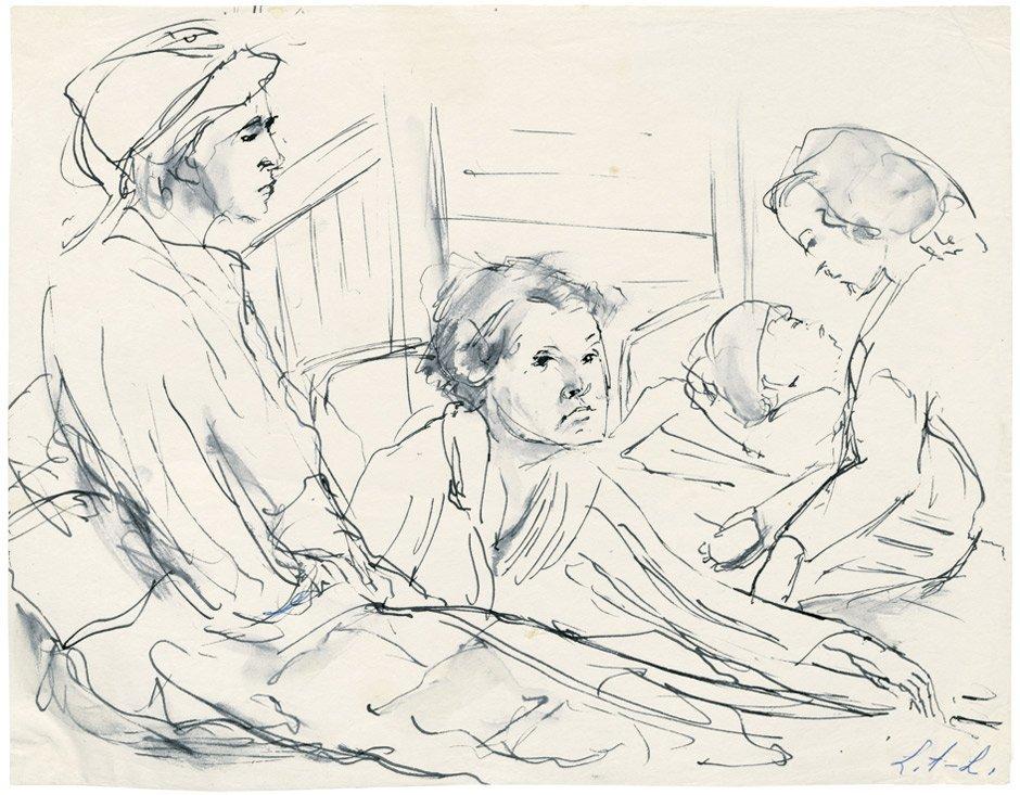 7002: Albert-Lasard, Lou: Frauen im Schlafsaal des Lage