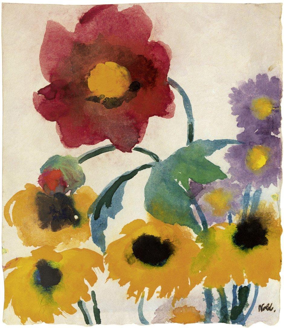 8319: Nolde, Emil: Astern, Sonnenblumen und Dahlien