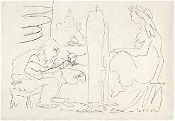 8360: Picasso, Pablo: Le peintre et son modèle