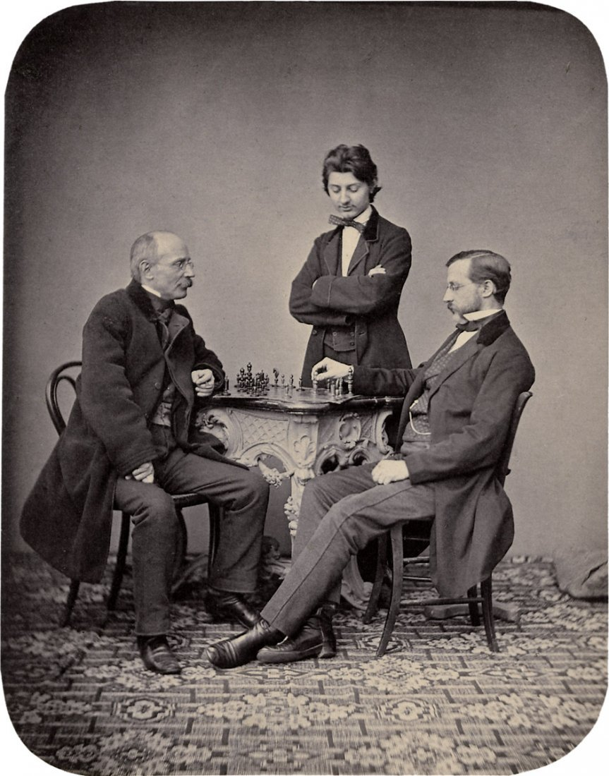 4006: Bauer, Johann: Portrait of chess players