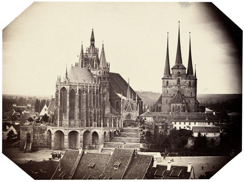 4023: Erfurt: View of the Mariendom and the Severikirch
