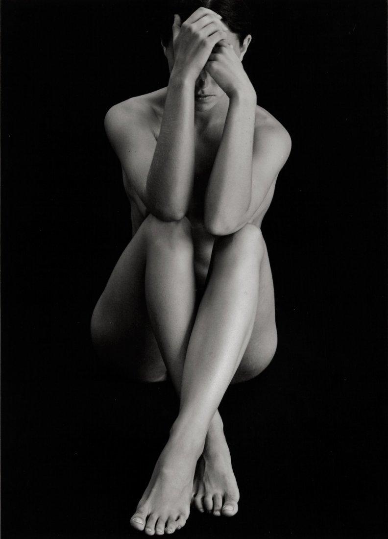 4353: Weston, Brett: Seated female nude