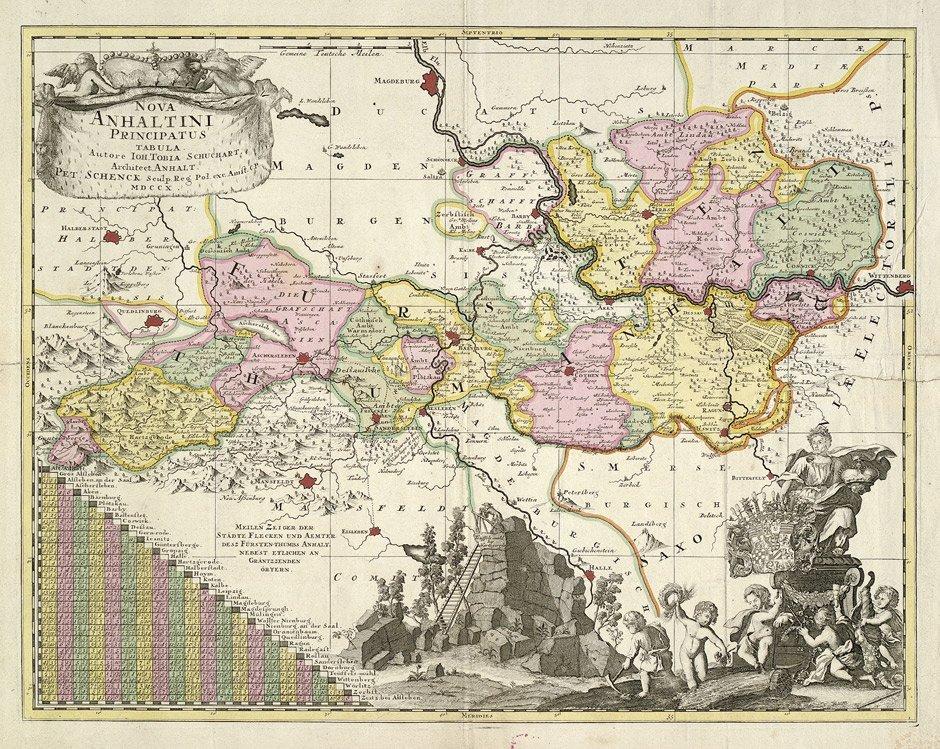 2: Anhalt (Schenck): Nova Anhaltini ... tabula etc.
