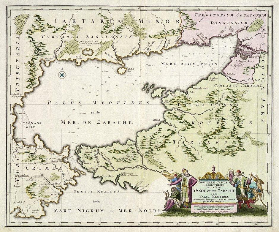 5: Asowsches Meer (Visscher): Carte ... de la mer d'Aso