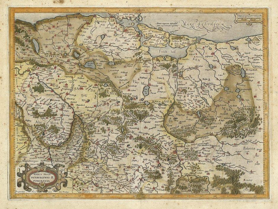 13: Brandenburg und Pommern (Mercator): Marca Brandenbu