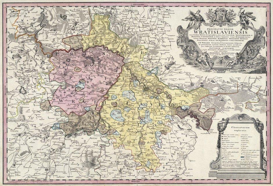 14: Breslau (Homann's Erben): Principatus Silesiae Wrat