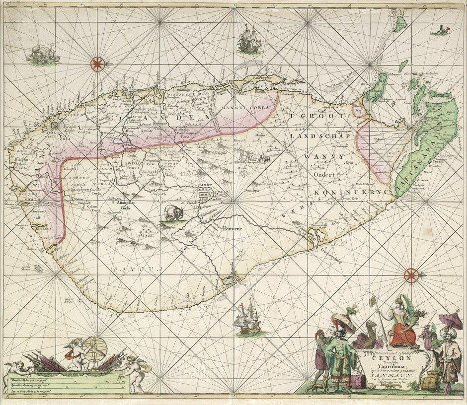 15: Ceylon: Pascaert van't Eylandt Ceylon
