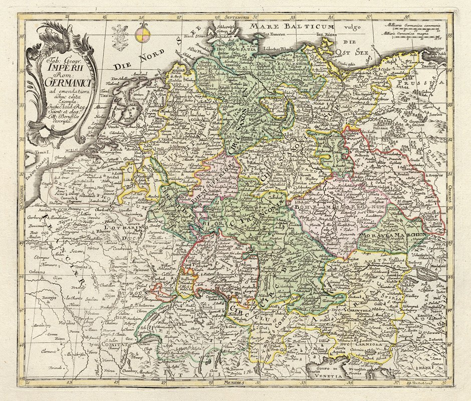 22: Deutschland (Euler): Tab. Geogr. Imperii Rom. Germa
