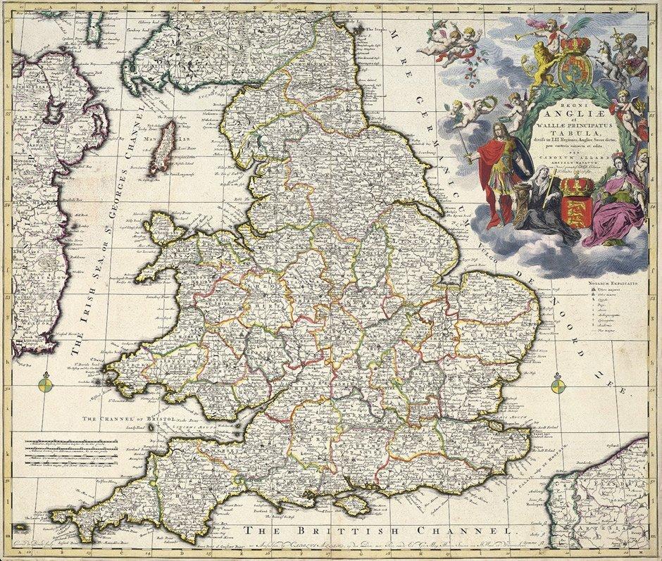 23: England (Allard): Regni Angliae  ... tabula