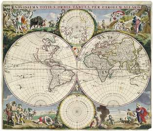 68: Weltkarte (Allard) & Titelblatt: Novissima totius o