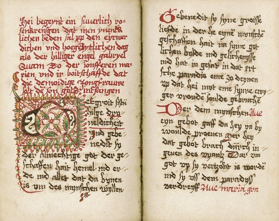 513: Niederdeutsches Gebetbuch: Ndt. Hs. auf Papier. Ob