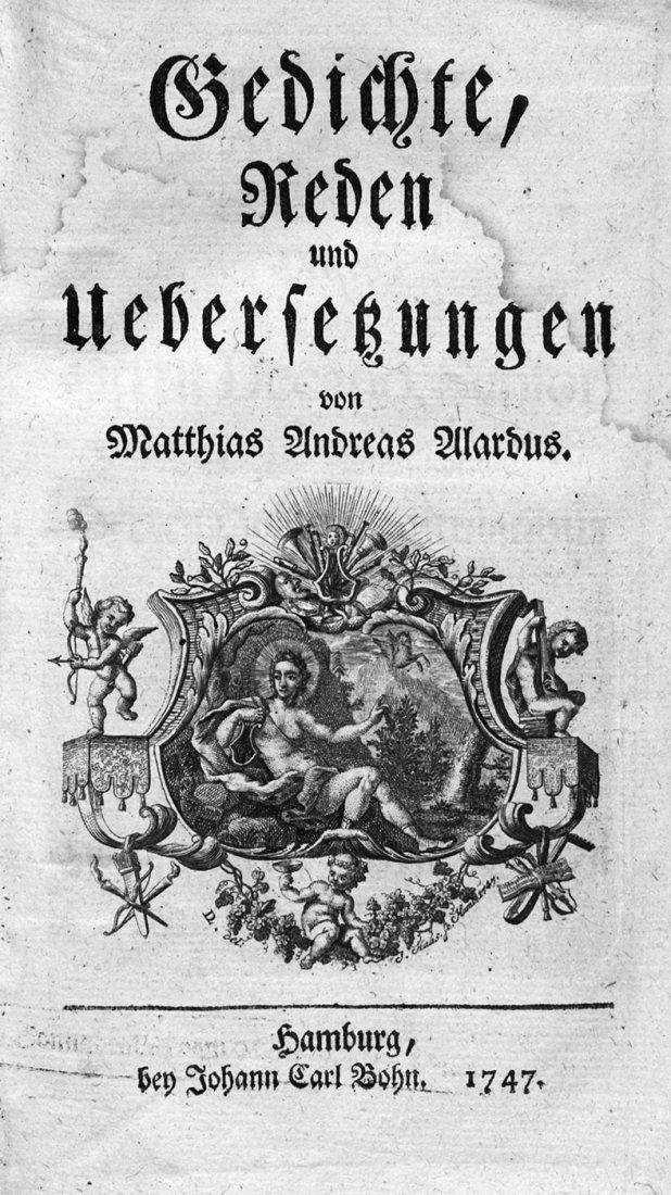 1914: Alardus, Matthias Andreas: Gedichte, Reden und Üb