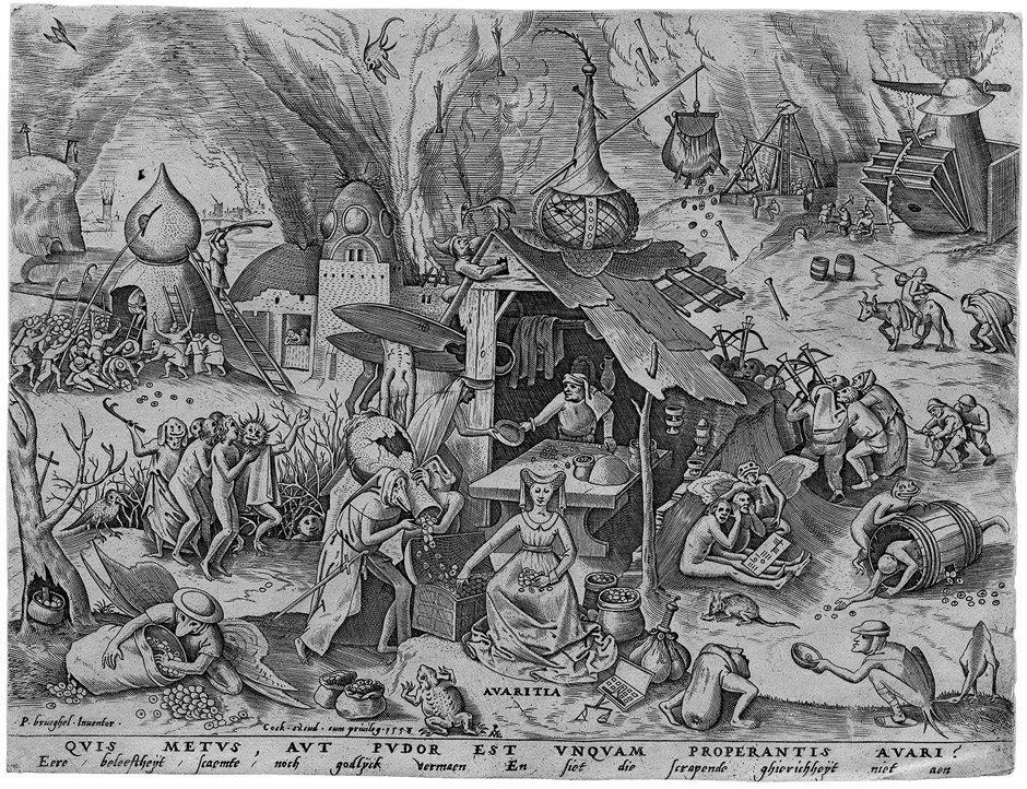 5029: Bruegel, Pieter d. Ä. - nach: Avaritia