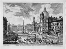 5290: Piranesi, Giovanni Battista: Veduta di Piazza Nav