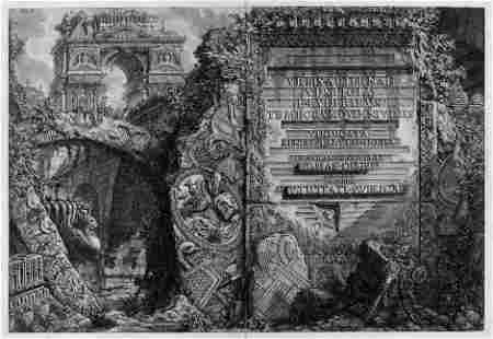 5844: Piranesi, Giovanni Battista: Le Antichità Romane