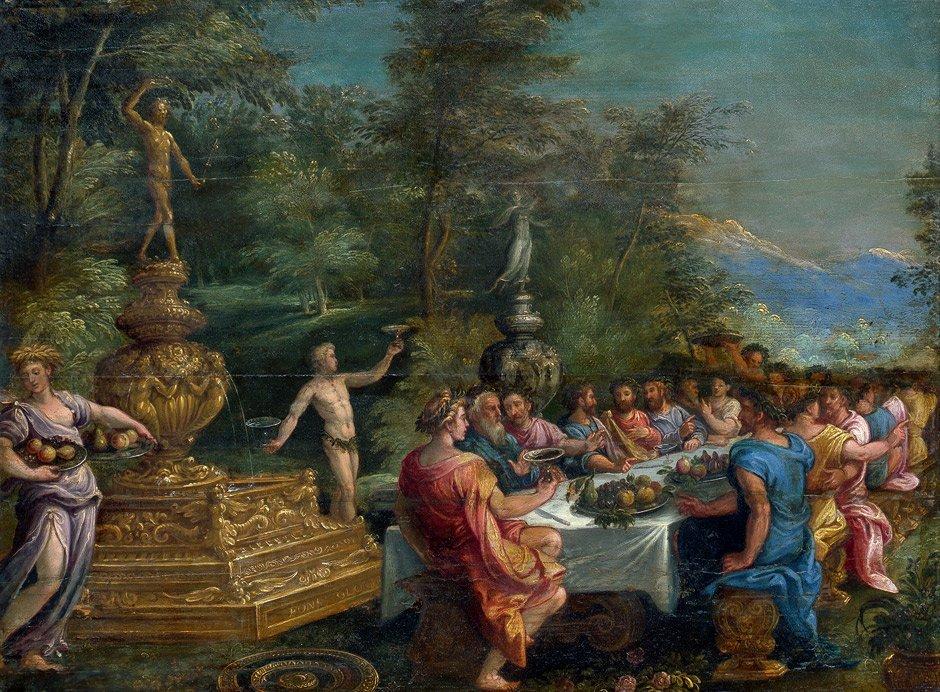 6005: Flämisch - um 1600: Gastmahl im Freien (Das Golde