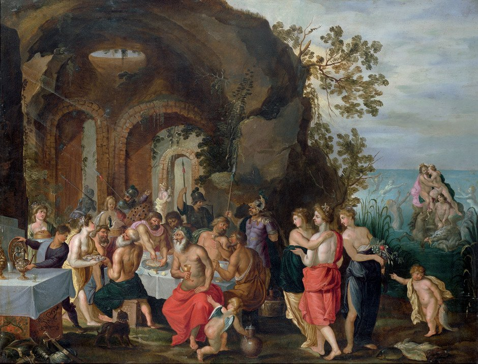 6008: Herp, Willem van - zugeschrieben: Göttermahl (Die