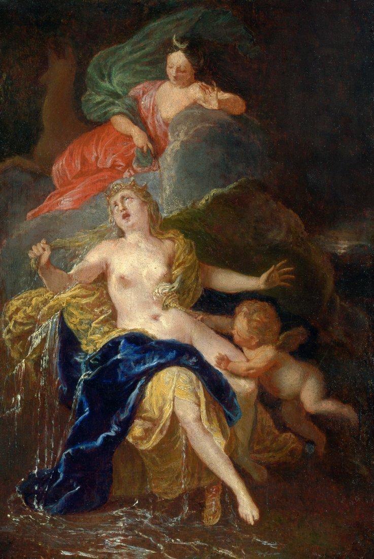 6010A: Deutsch - um 1650: Diana und die weinende Niobe