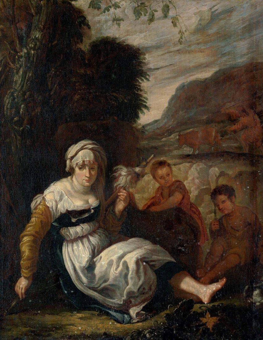 6016: Fetti, Domenico: Adam und Eva bei der Arbeit