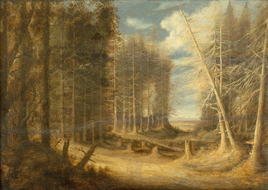 6020: Peeters, Gillis - Umkreis: Waldlandschaft mit umg