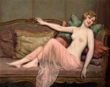 6257: Martin-Kavel, Fran�ois: Junge Frau auf dem Divan