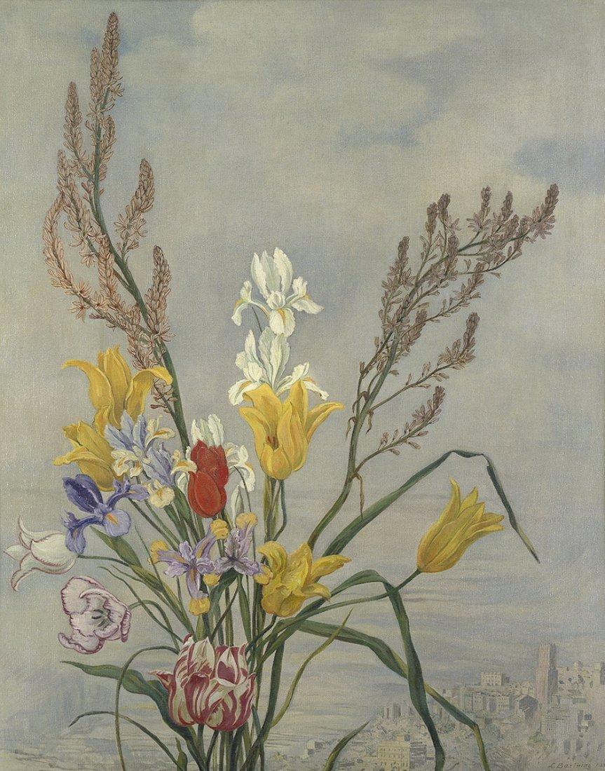 7020: Bartning, Ludwig: Blumenstrauß vor italienischer