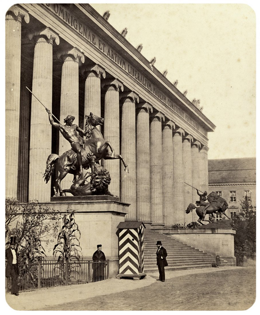 4005: Ahrendts, Leopold: View of the Altes Museum, Berl