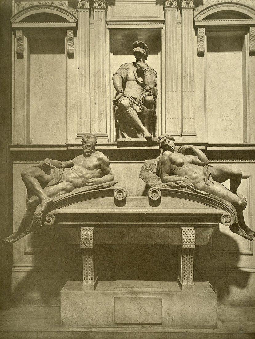 4023: Braun, Adolphe  - : Tomb of Lorenzo Medici; Court