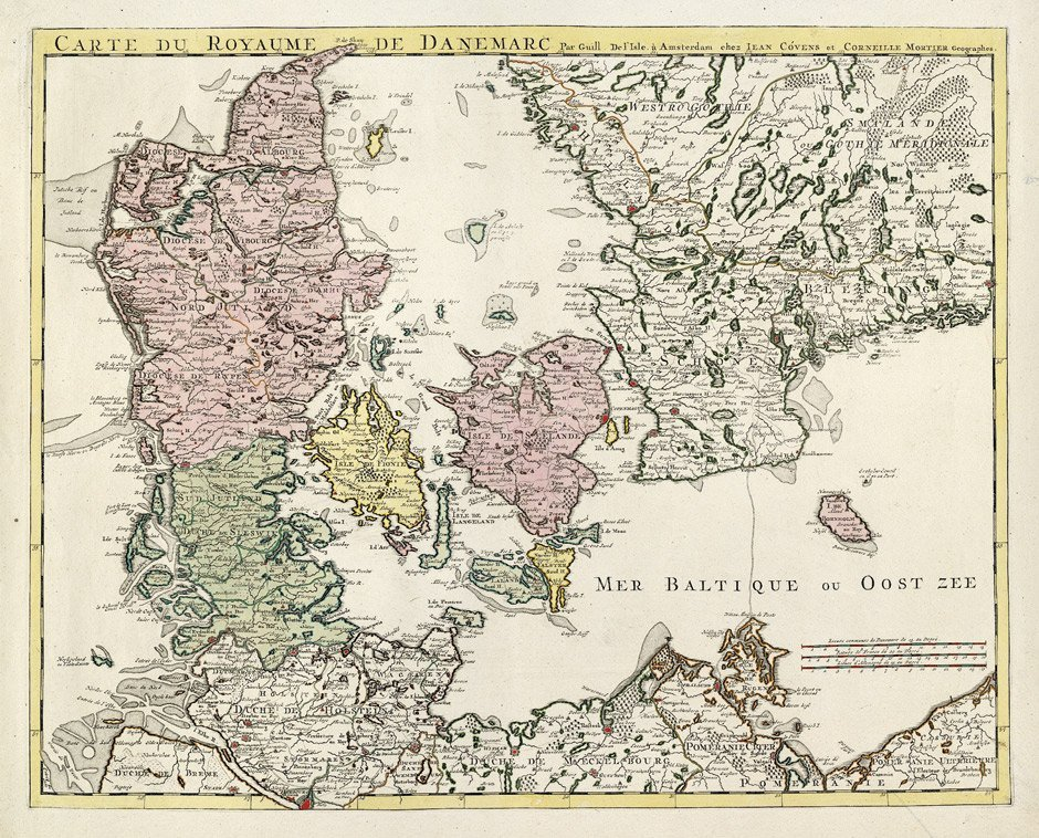 Dänemark: Carte  du royaume de Danemarc