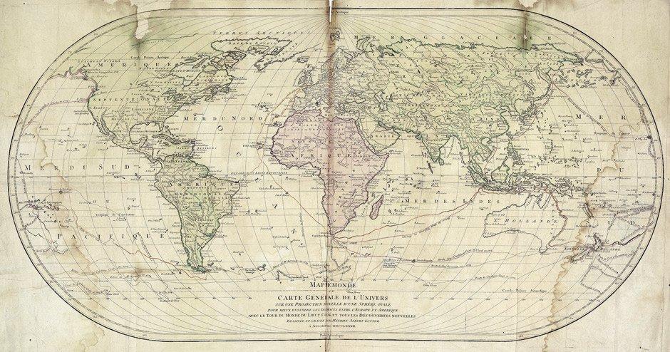 Weltkarte: Mappemonde