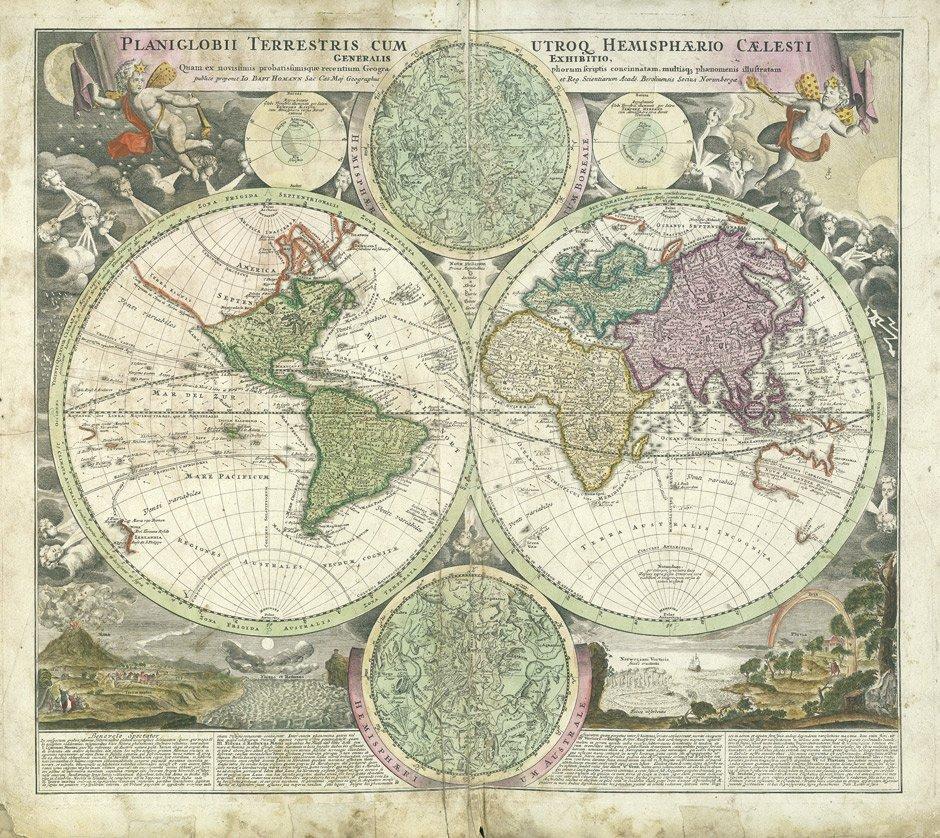 Homann, Johann Baptist: Sammelatlas mit 88 Karten