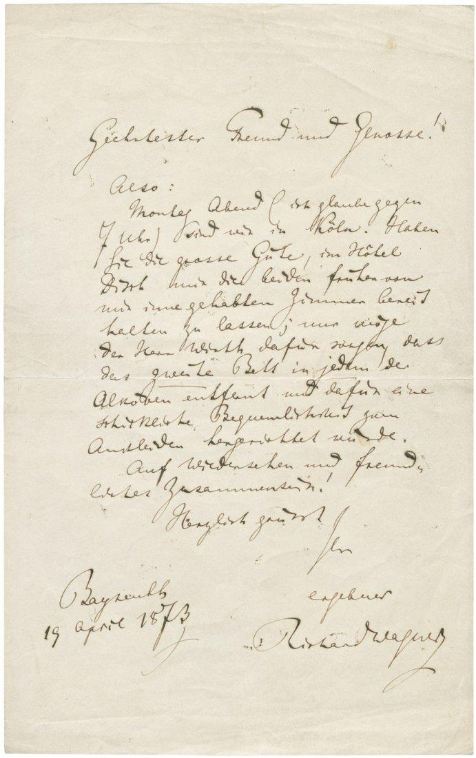 Wagner, Richard: Brief 1873