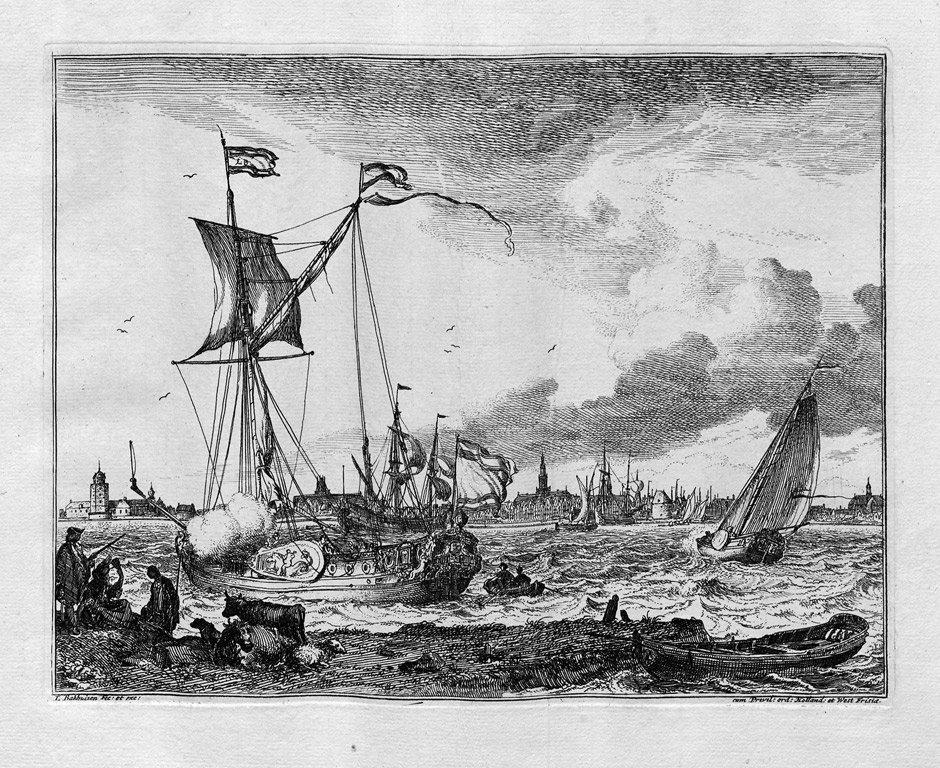 Backhuizen, Ludolf: Die Folge der Marinen