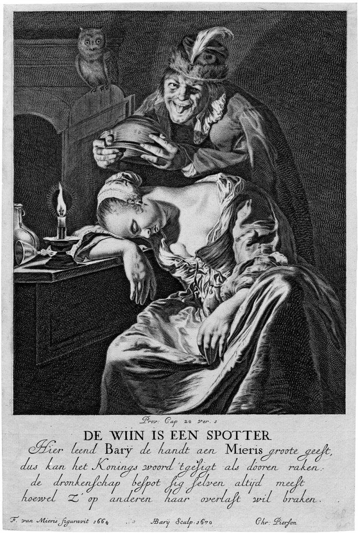 Bary, Hendrik: De Wijn is een spotter - Allegorie der T