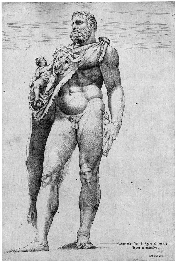 Beatrizet, Nicolas: zugeschrieben. Standbild des Kaiser