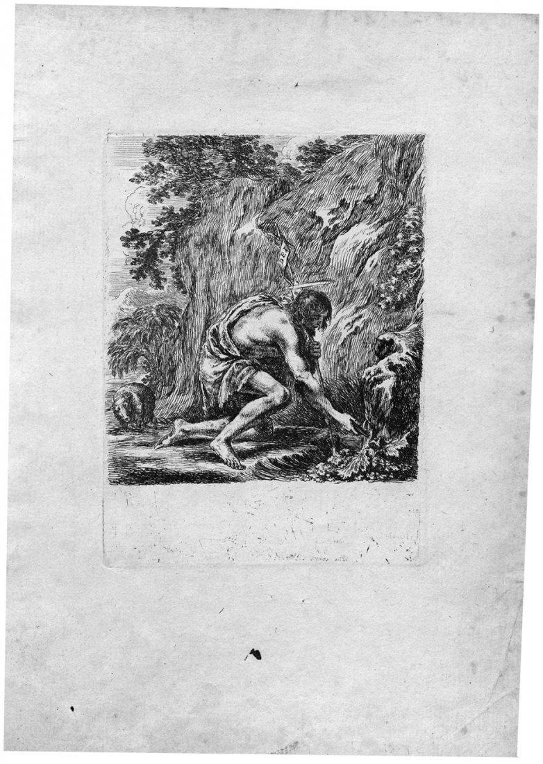 Bella, Stefano della: Johannes der Täufer, von einer Qu