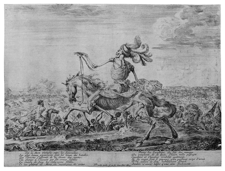 Bella, Stefano della: Der Tod auf dem Schlachtfeld