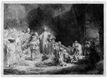 Rembrandt Harmensz. van Rijn: Christus heilt die Kranke