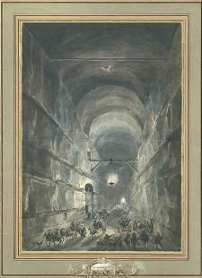Desprez, Louis-Jean: La Grotta di Posillipo
