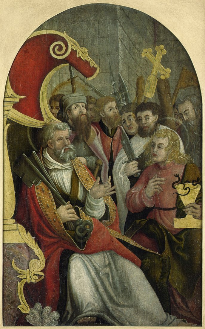 Süddeutsch - um 1520-30: Die hll. Petrus und Johannes m