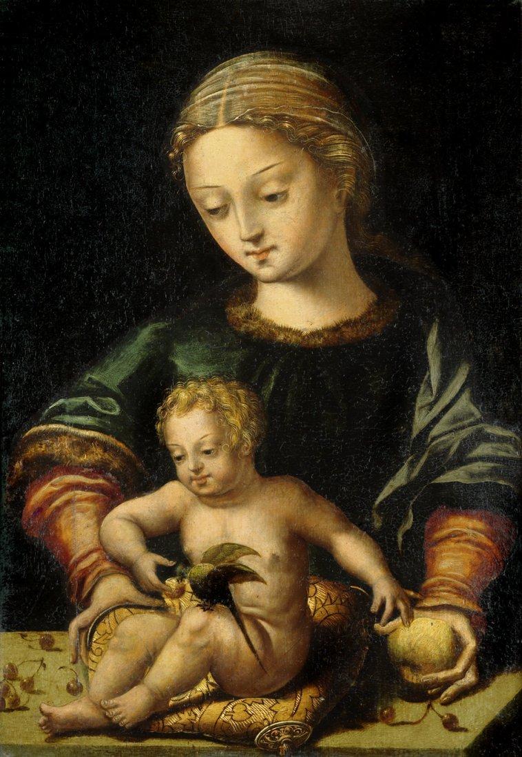 Meister mit dem Papagei: Madonna mit dem Christusknaben