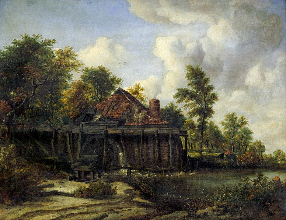 Ruisdael, Jacob van: Umkreis. Wassermühle am Waldrand