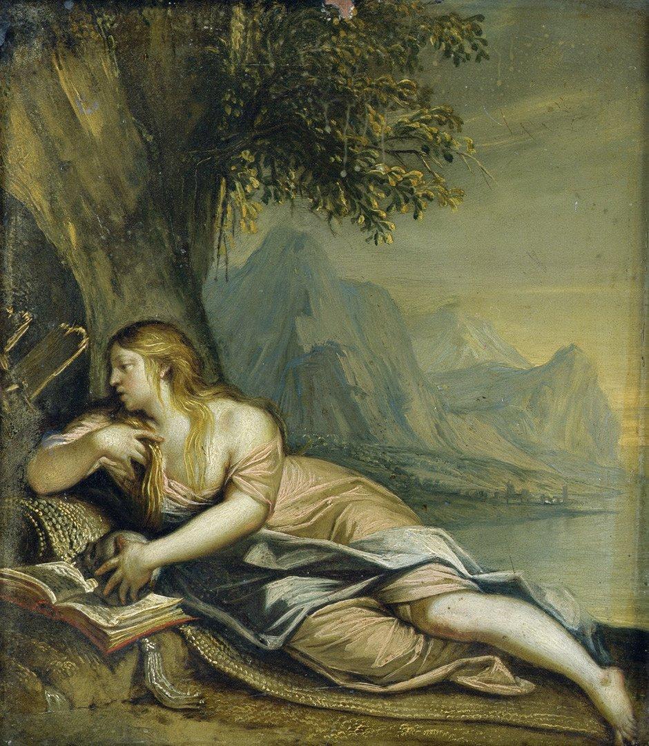 Italienisch: Um 1600. Maria Magdalena bei der Buße