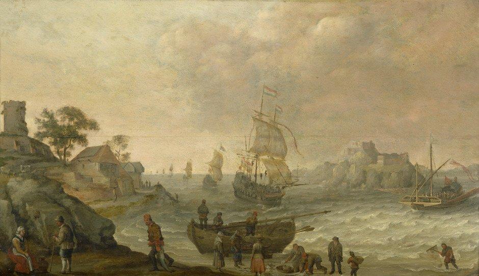 Willaerts, Adam: Küstenlandschaft mit Fischern