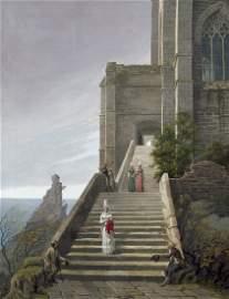Hampe, Karl Friedrich: Gotische Kirche am Meer