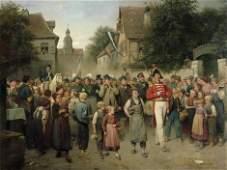 L�ben, Adolf: R�ckkehr vom Sch�tzenplatz