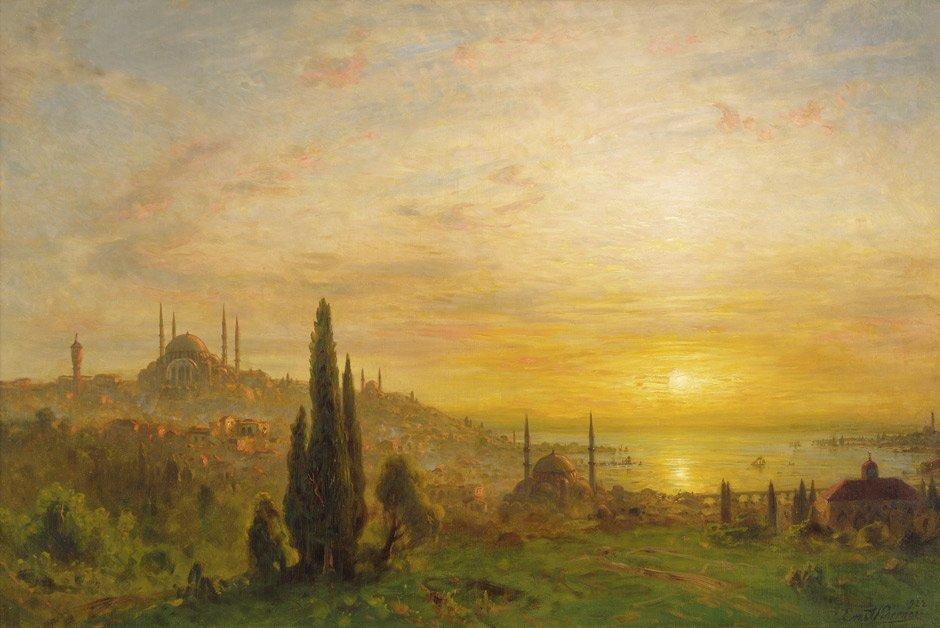 Koerner, Ernst Karl Eugen: Sonnenuntergang über Istanbu